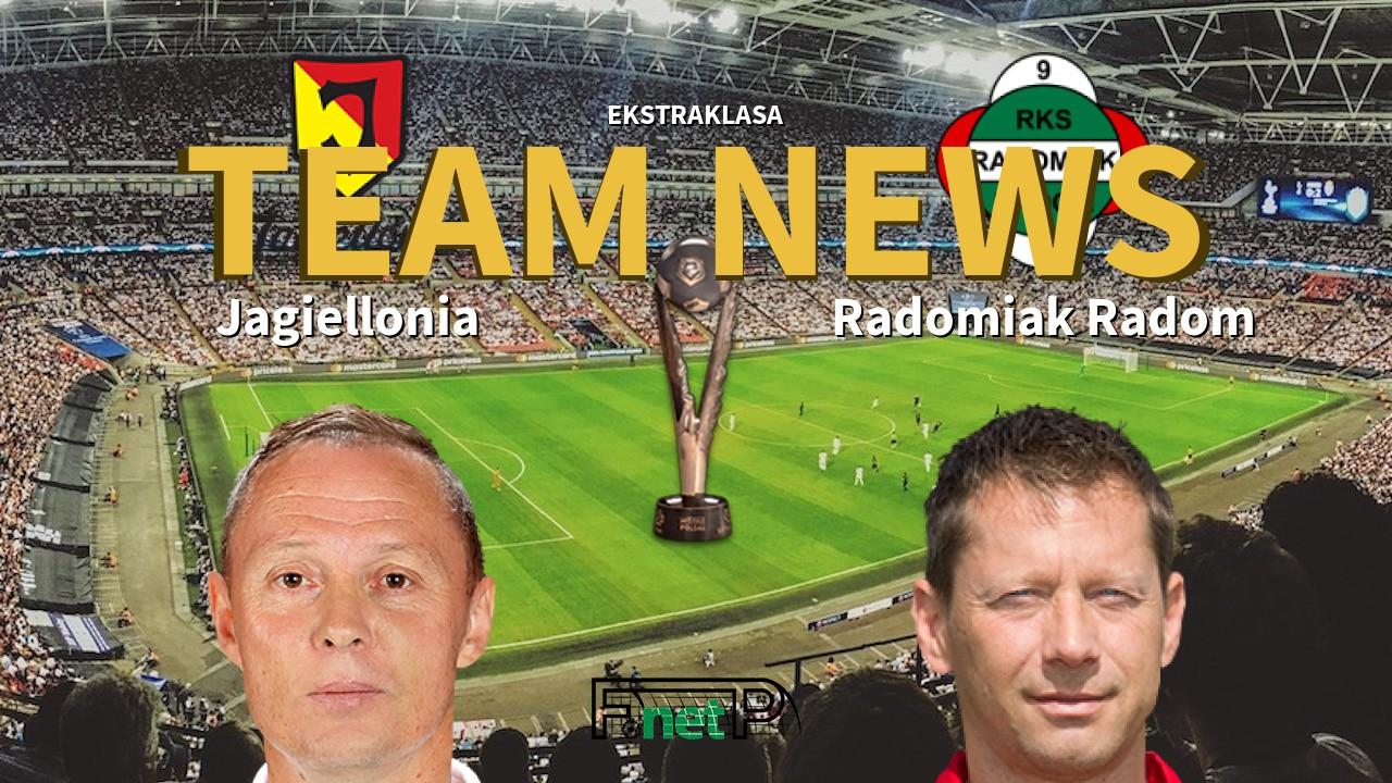 Ekstraklasa News: Jagiellonia Białystok vs Radomiak Radom Confirmed Line-ups