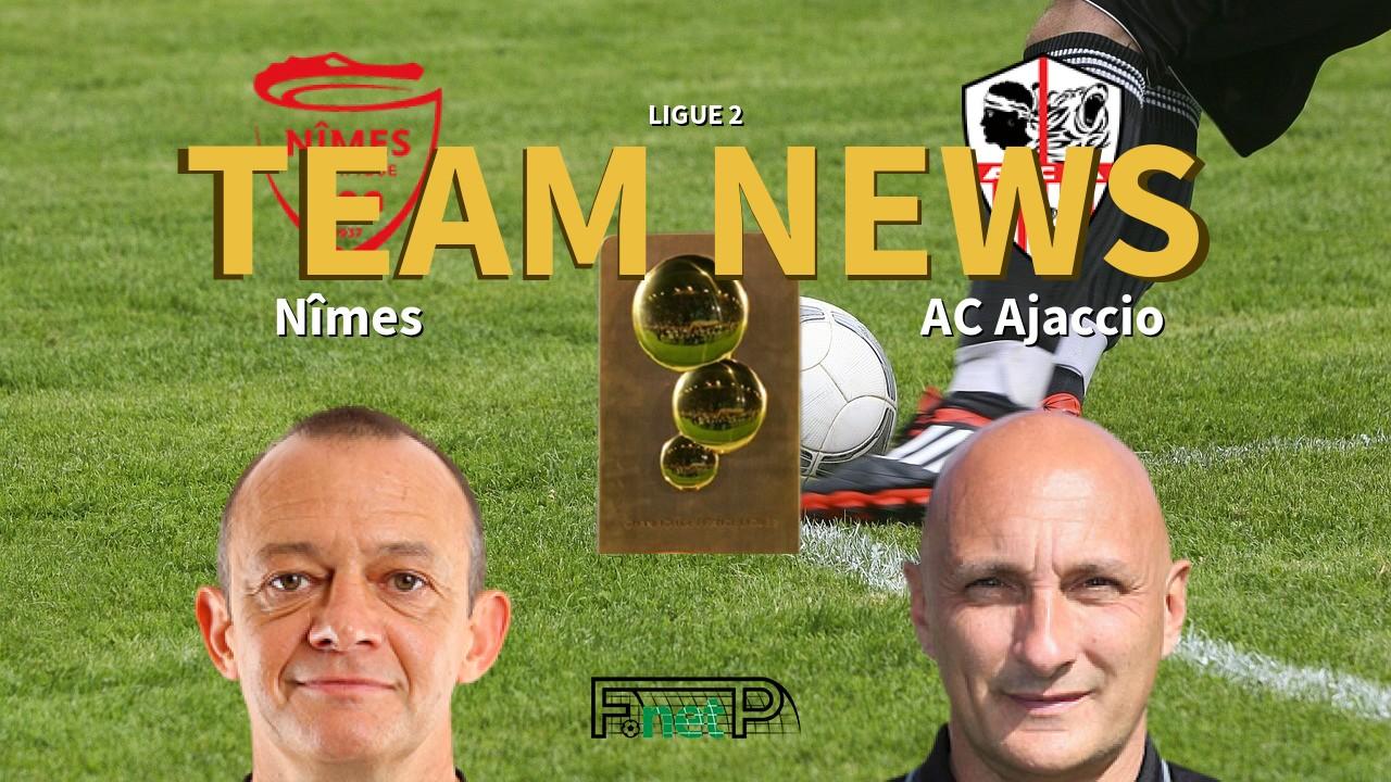 Ligue 2 News: Nîmes vs AC Ajaccio Confirmed Line-ups
