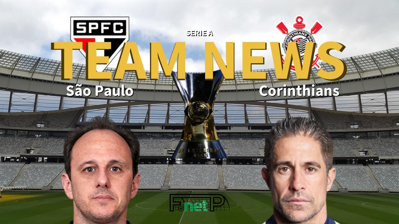 Serie A News: São Paulo vs Corinthians Confirmed Line-ups