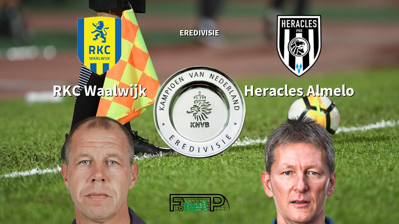Rkc Waalwijk Vs Heracles Almelo Live Stream Odds H2h Tip 02 11 2019