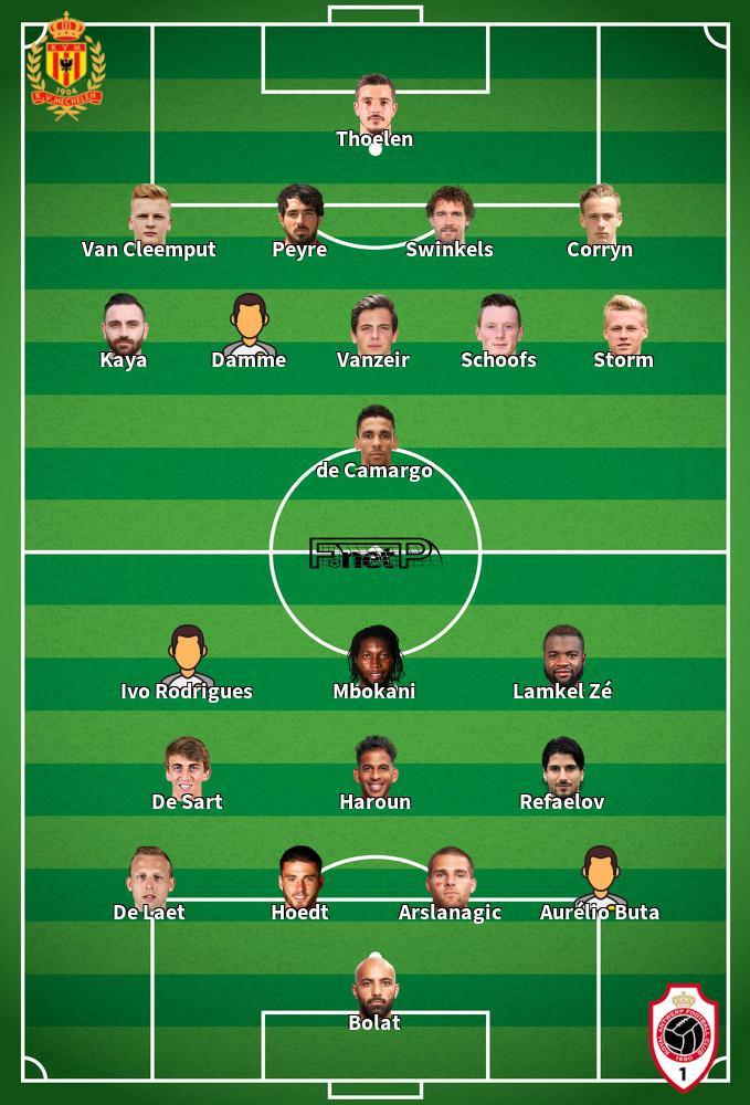 Antwerp v KV Mechelen Predicted Lineups 29-11-2019