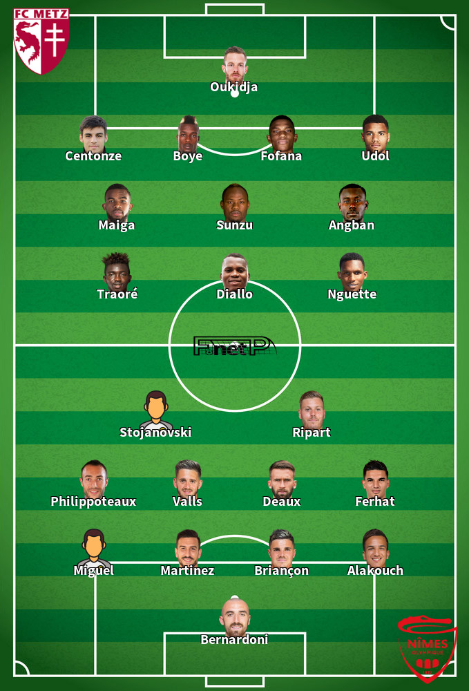 Nîmes v Metz Predicted Lineups 30-11-2019