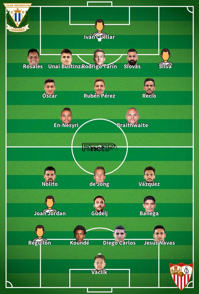 Sevilla v Leganés Predicted Lineups 01-12-2019