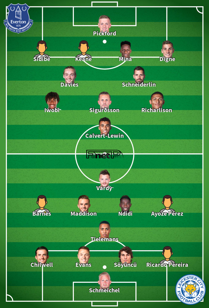 Leicester v Everton Predicted Lineups 01-12-2019