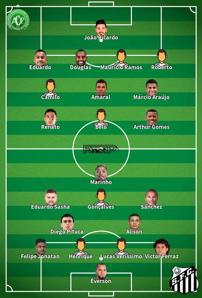 Santos v Chapecoense Predicted Lineups 01-12-2019