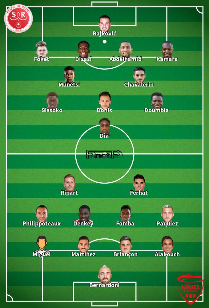 Nîmes v Reims Predicted Lineups 11-01-2020