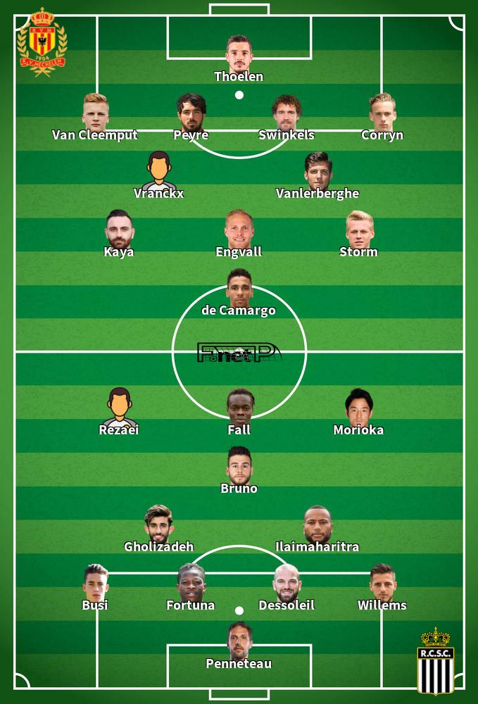Charleroi v KV Mechelen Predicted Lineups 11-02-2020