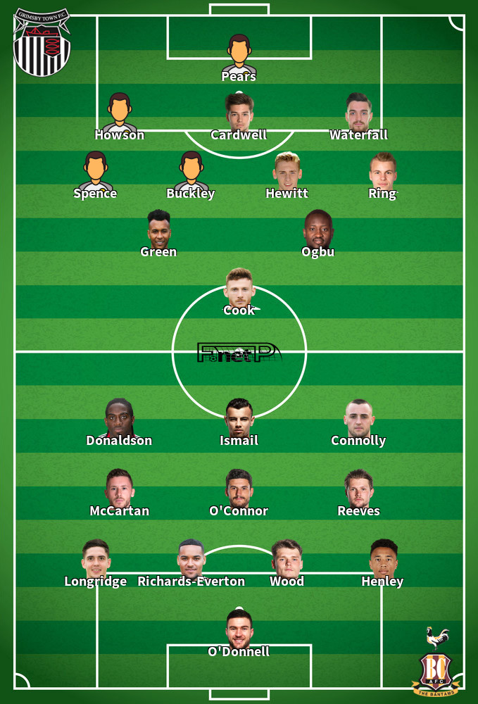 Bradford City v Grimsby Town Predicted Lineups 08-02-2020