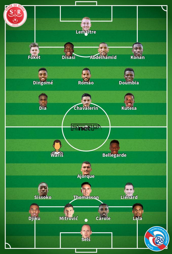 Strasbourg v Reims Predicted Lineups 09-02-2020