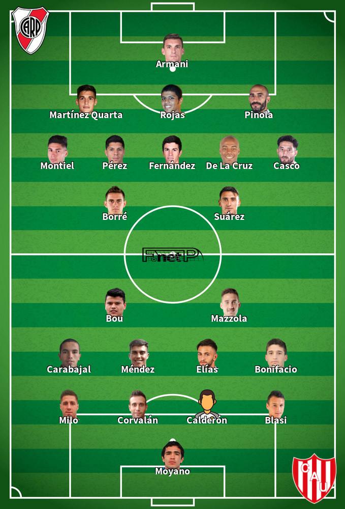 Unión de Santa Fe v River Plate Predicted Lineups 10-02-2020