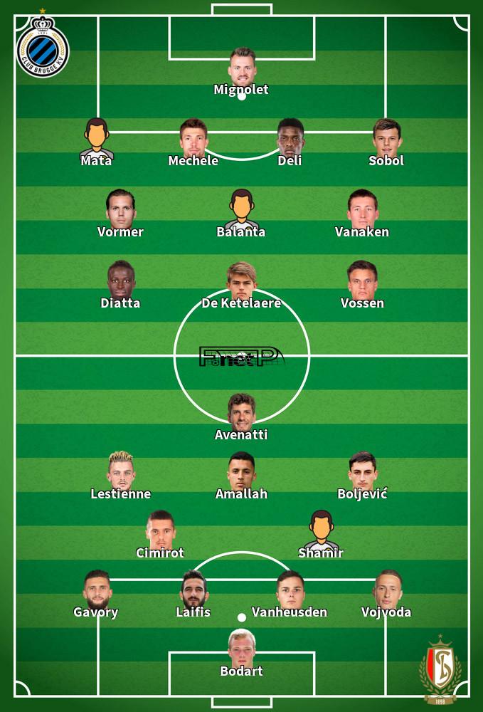 Standard Liège v Club Brugge Predicted Lineups 12-02-2020