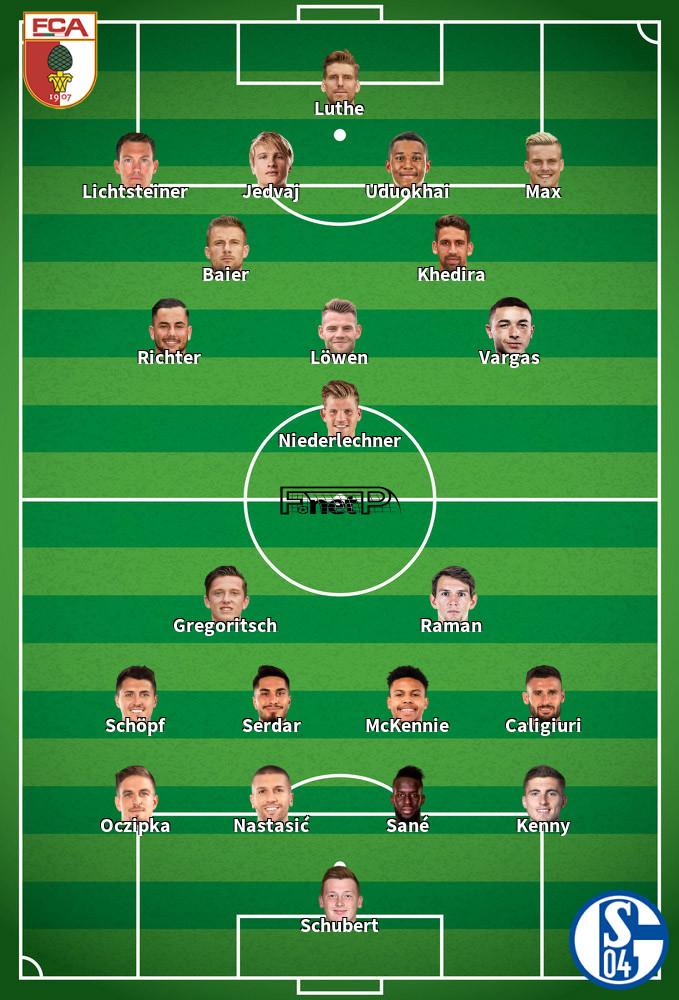 Schalke v Augsburg Predicted Lineups 24-05-2020