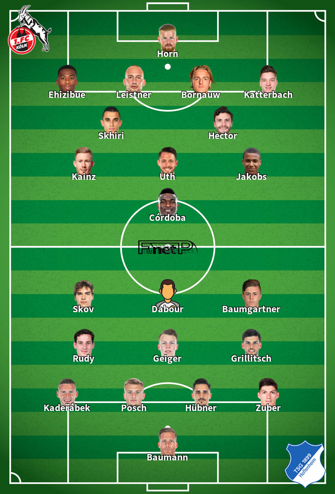 Hoffenheim v Cologne Predicted Lineups 27-05-2020