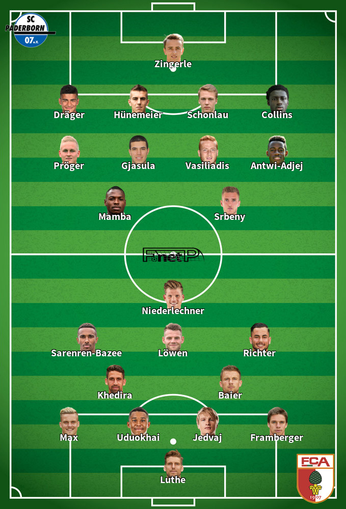 Augsburg v Paderborn Predicted Lineups 27-05-2020