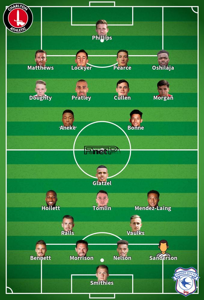 Cardiff City v Charlton Athletic Predicted Lineups 30-06-2020