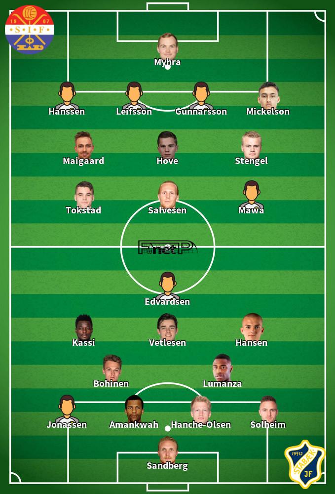 Stabæk v Strømsgodset IF Predicted Lineups 01-07-2020