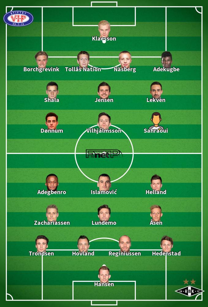 Rosenborg BK v Vålerenga Predicted Lineups 01-07-2020