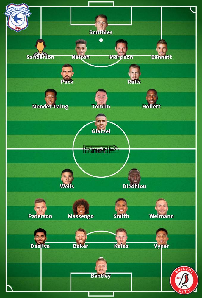 Bristol City v Cardiff City Predicted Lineups 04-07-2020
