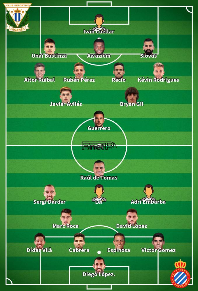 Espanyol v Leganés Predicted Lineups 05-07-2020