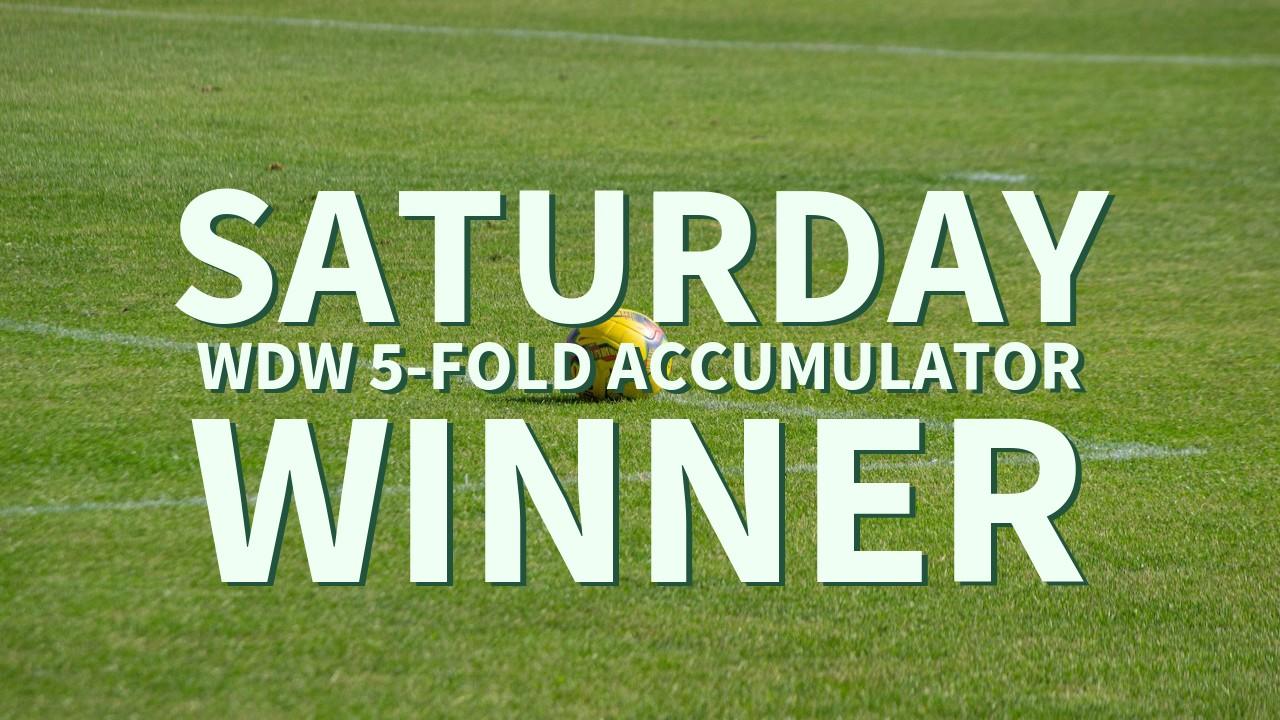 Saturday 2/1 WDW 5-Fold Accumulator Lands!