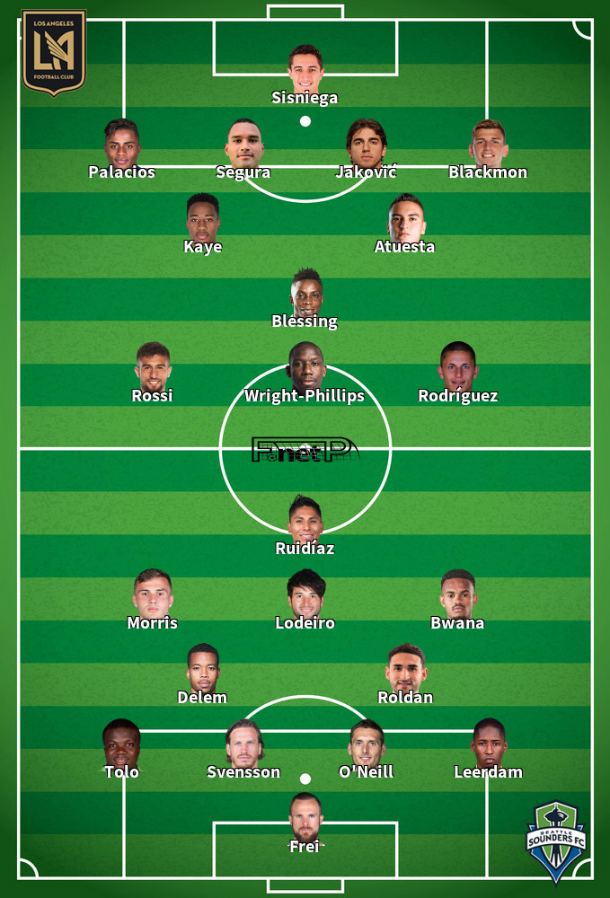 Seattle Sounders FC v Los Angeles FC Predicted Lineups 28-07-2020