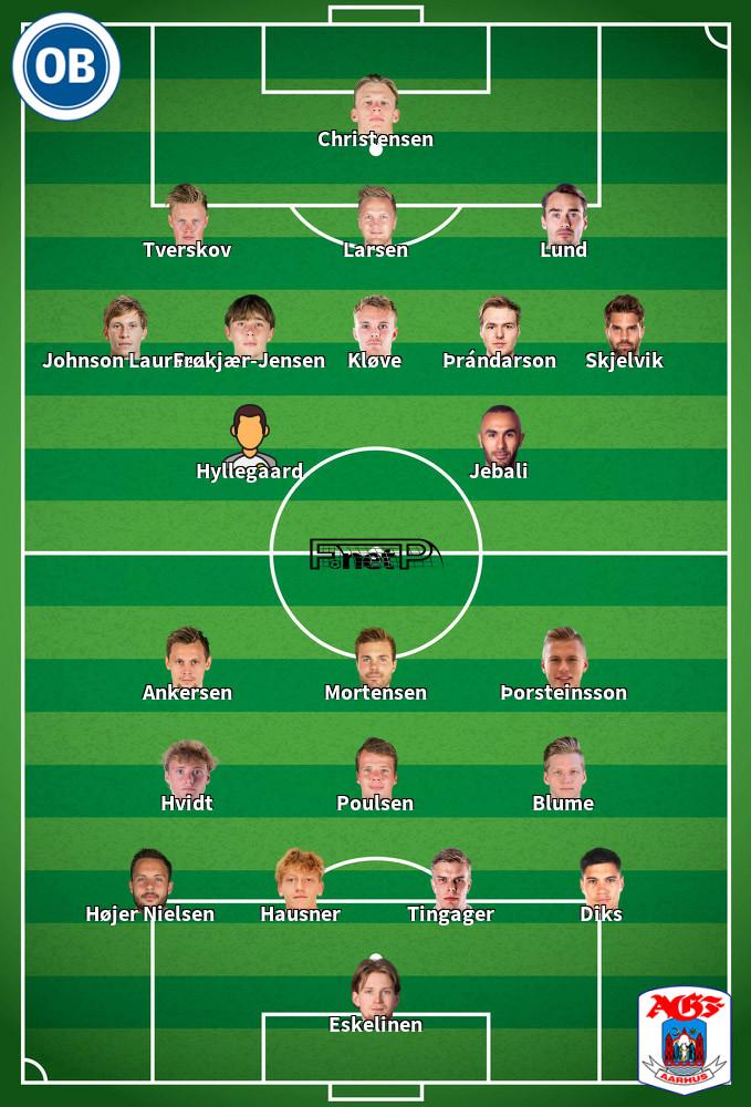 AGF Aarhus v Odense BK Predicted Lineups 29-07-2020