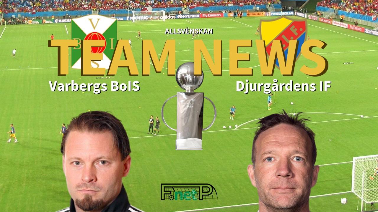 Allsvenskan News Varbergs Bois Vs Djurgardens If Confirmed Line Ups