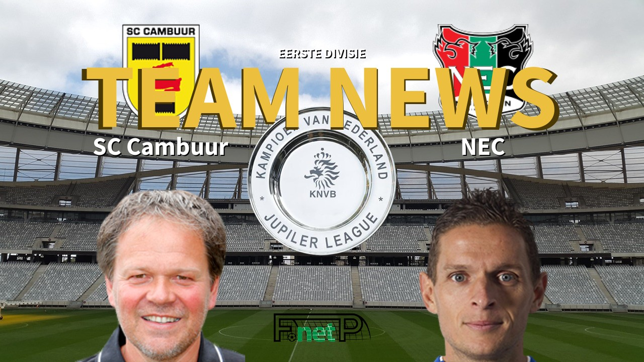 Eerste Divisie News Sc Cambuur Vs Nec Confirmed Line Ups