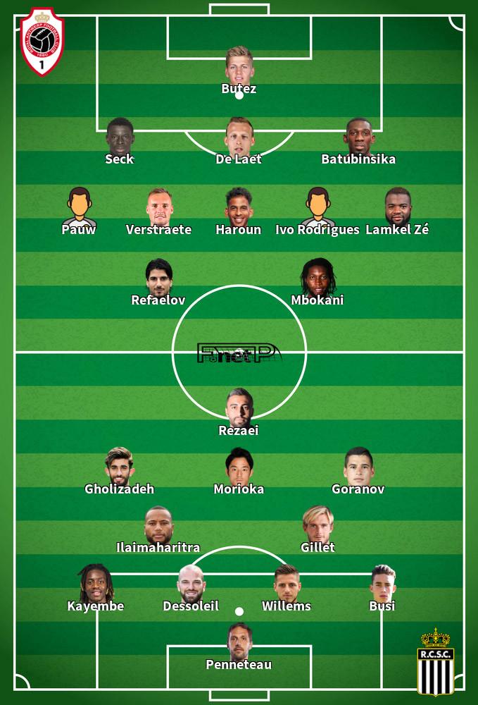 Charleroi v Antwerp Predicted Lineups 30-08-2020