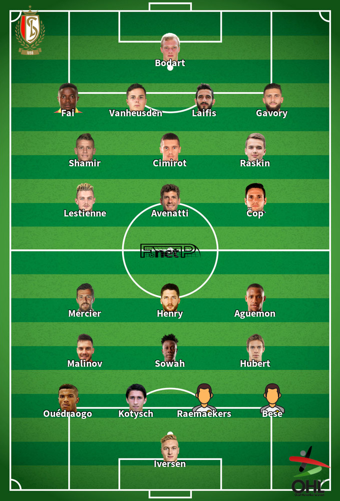 Oud-Heverlee Leuven v Standard Liège Predicted Lineups 12-09-2020