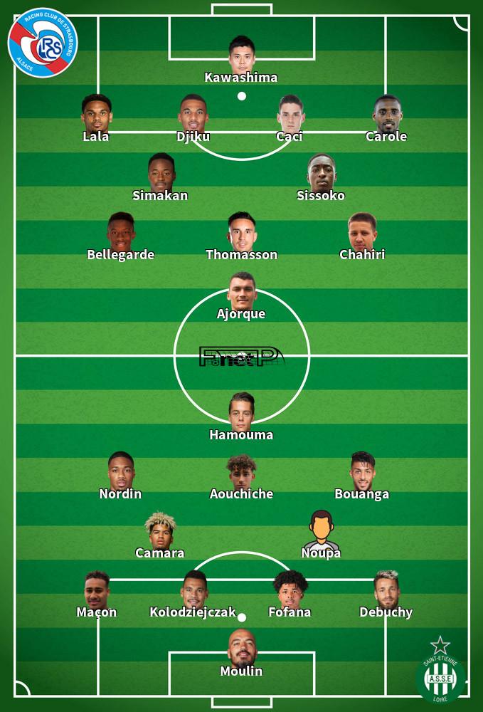 St Etienne v Strasbourg Predicted Lineups 12-09-2020