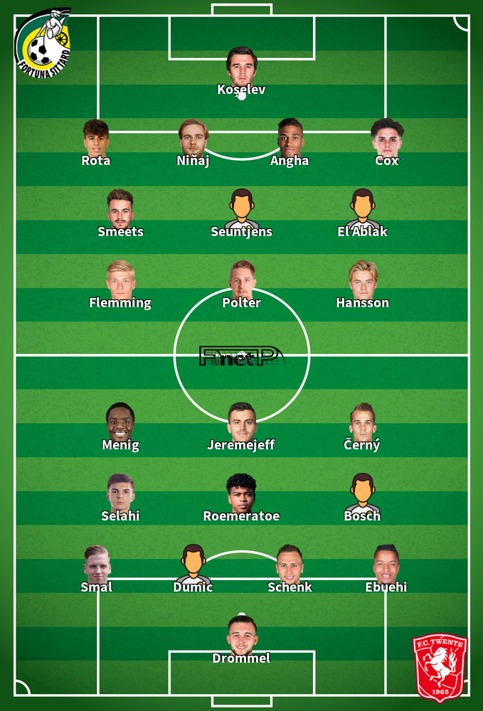 FC Twente v Fortuna Sittard Predicted Lineups 12-09-2020
