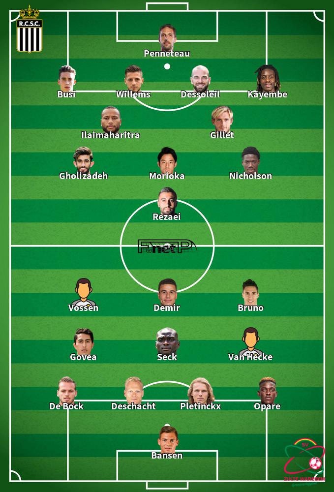 SV Zulte Waregem v Charleroi Predicted Lineups 13-09-2020