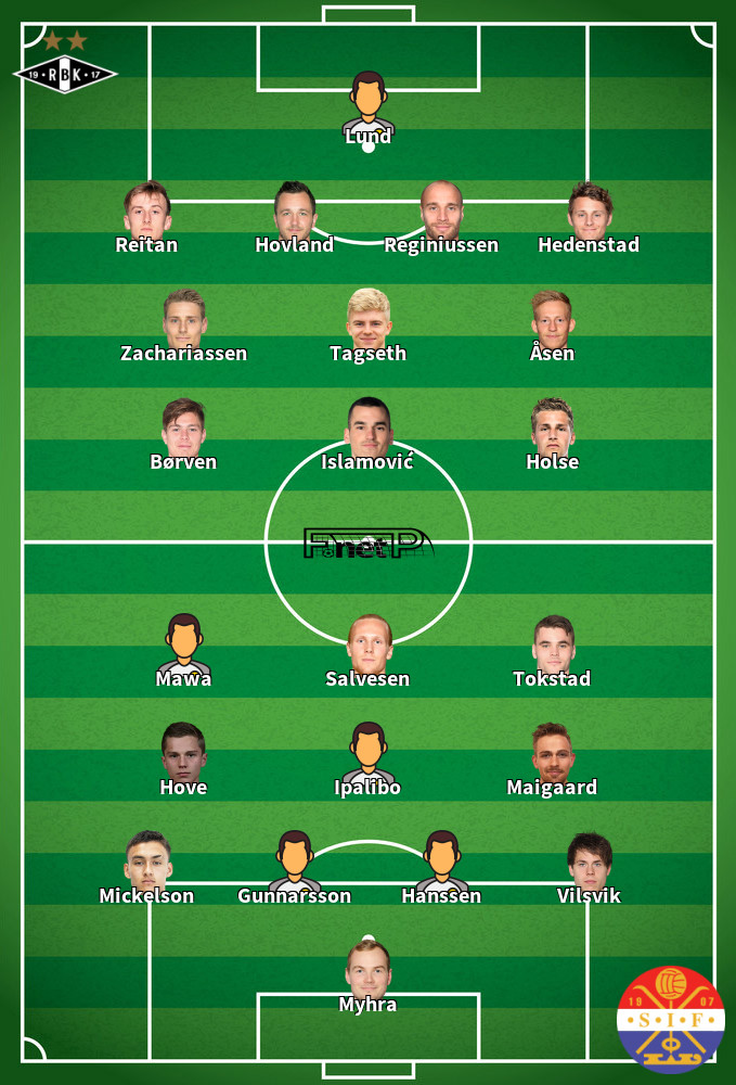 Strømsgodset IF v Rosenborg BK Predicted Lineups 13-09-2020