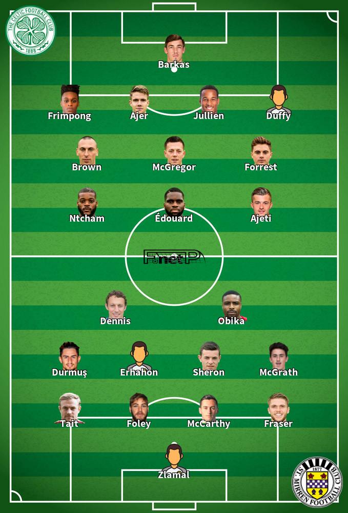 St Mirren v Celtic Predicted Lineups 16-09-2020