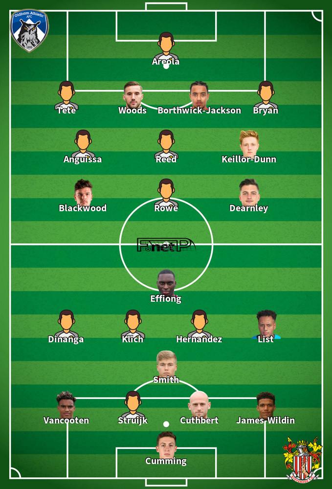 Stevenage v Oldham Athletic Predicted Lineups 19-09-2020