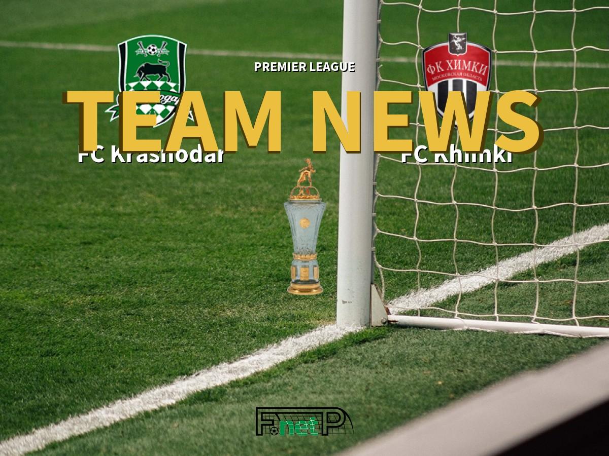 Premier League News Fc Krasnodar Vs Fc Khimki Confirmed Line Ups