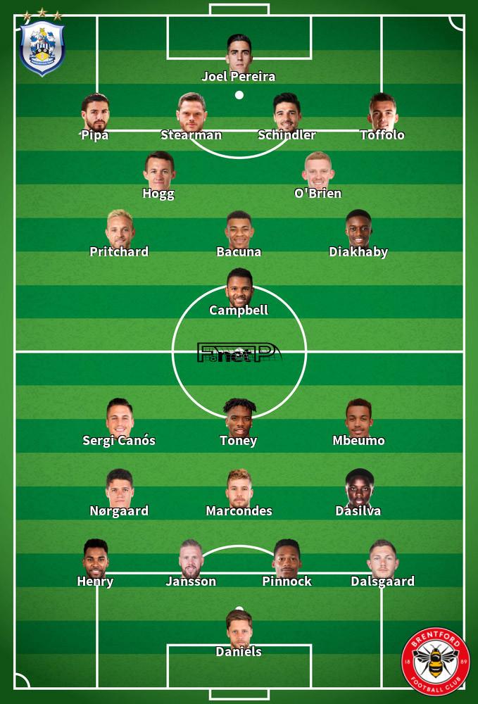 Brentford v Huddersfield Predicted Lineups 19-09-2020
