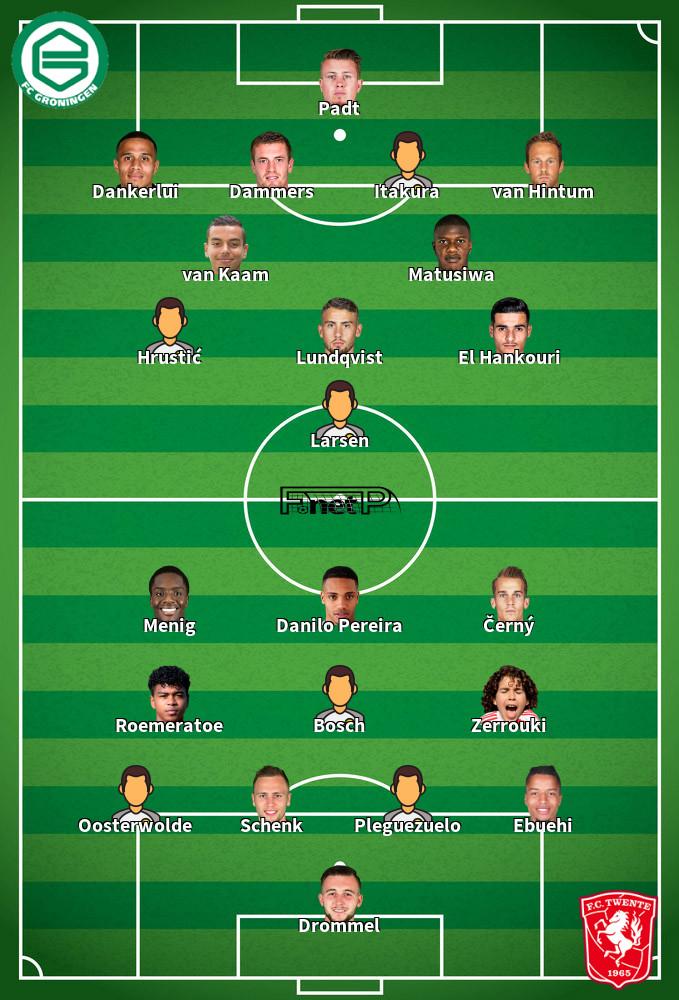 FC Twente v FC Groningen Predicted Lineups 25-09-2020