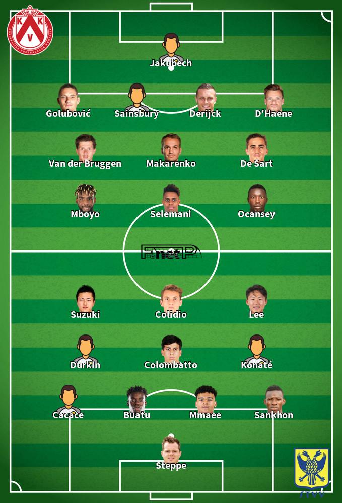 Sint-Truidense VV v KV Kortrijk Predicted Lineups 03-10-2020