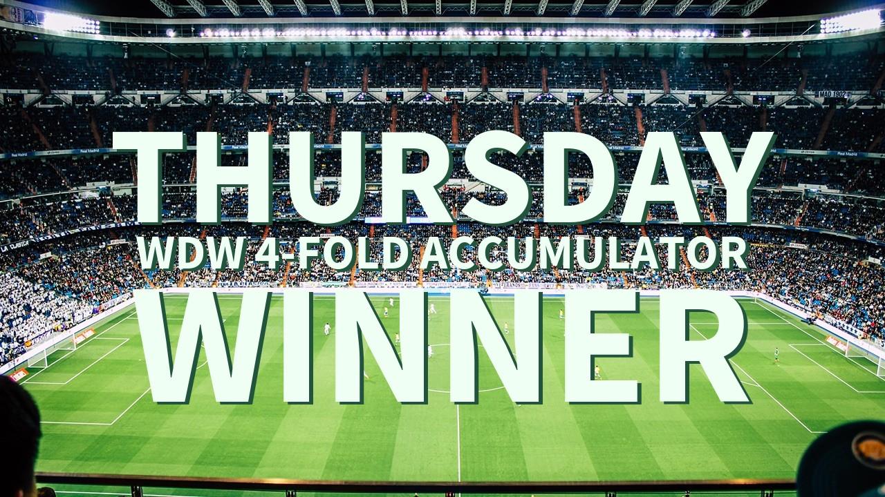 Thursday 1/1 WDW 4-Fold Accumulator Success!