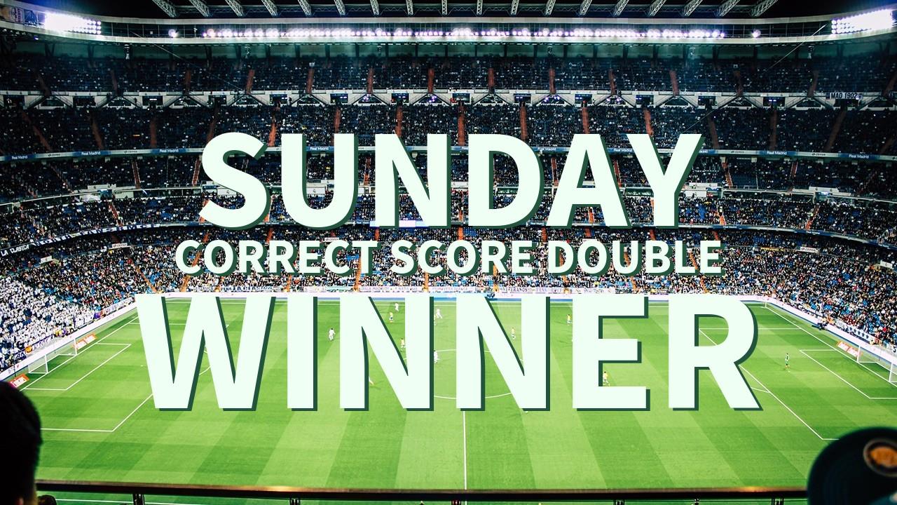 Sunday 36/1 Correct score Double Lands!