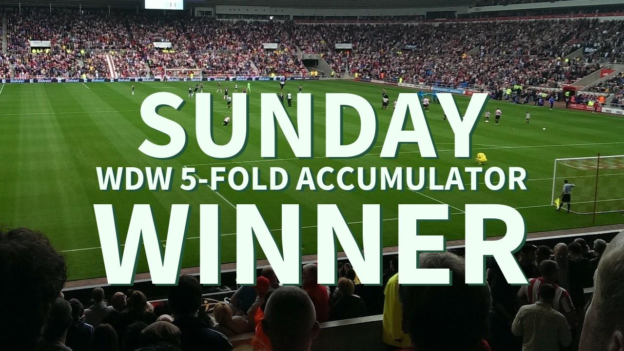 Sunday 7/1 WDW 5-Fold Accumulator Lands!