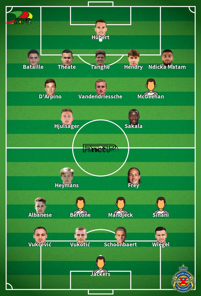 Waasland-Beveren v Oostende Predicted Lineups 19-10-2020