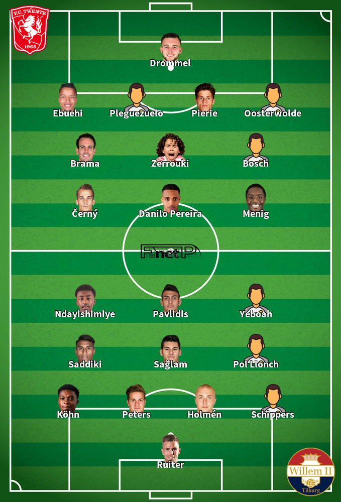 Willem II v FC Twente Predicted Lineups 17-10-2020