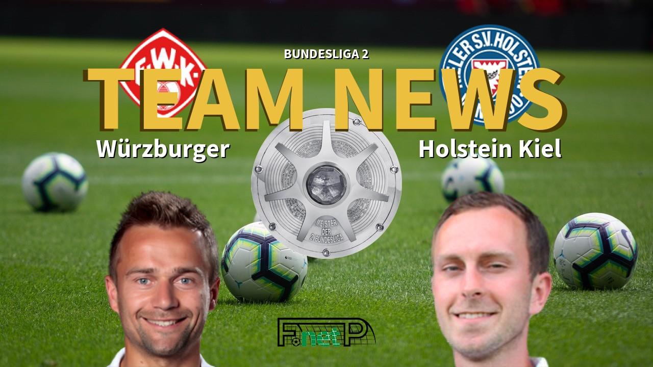 Bundesliga 2 News Wurzburger Kickers Vs Holstein Kiel Confirmed Line Ups
