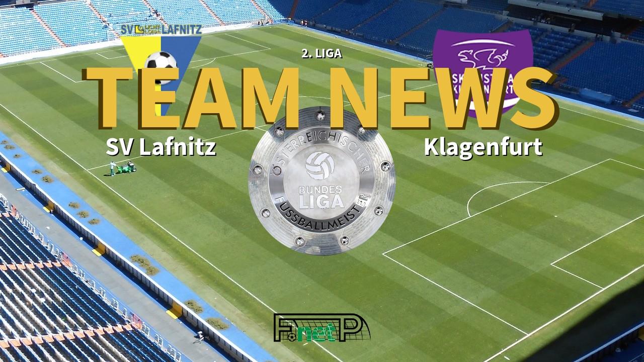 2 Liga News Sv Lafnitz Vs Austria Klagenfurt Confirmed Line Ups