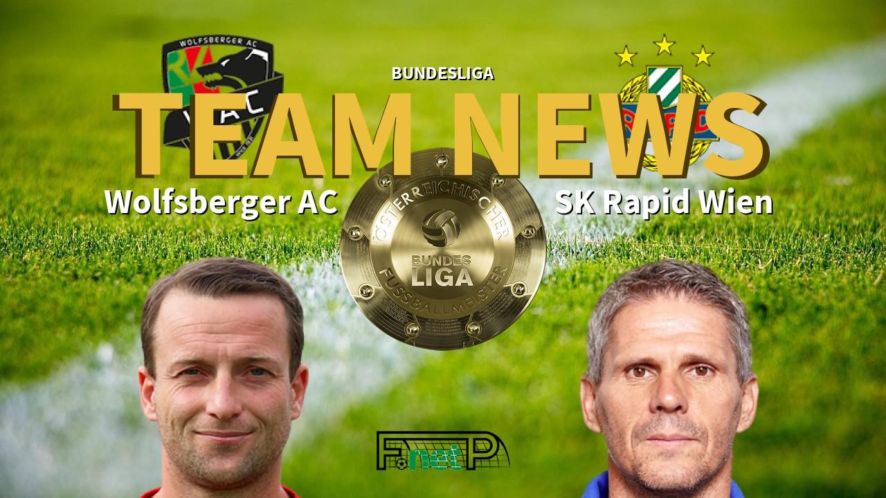 Bundesliga News: Wolfsberger AC vs Rapid Vienna Confirmed Line-ups