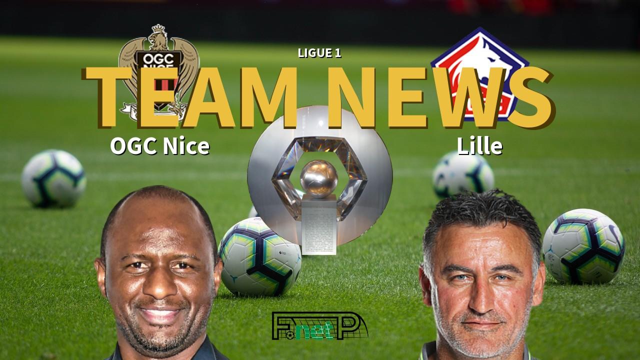 Ligue 1 News: Nice vs Lille Confirmed Line-ups