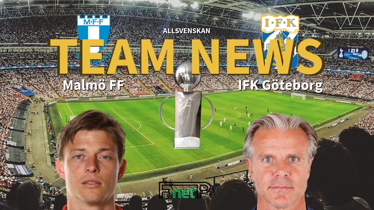 Allsvenskan News: Malmö vs IFK Göteborg Confirmed Line-ups